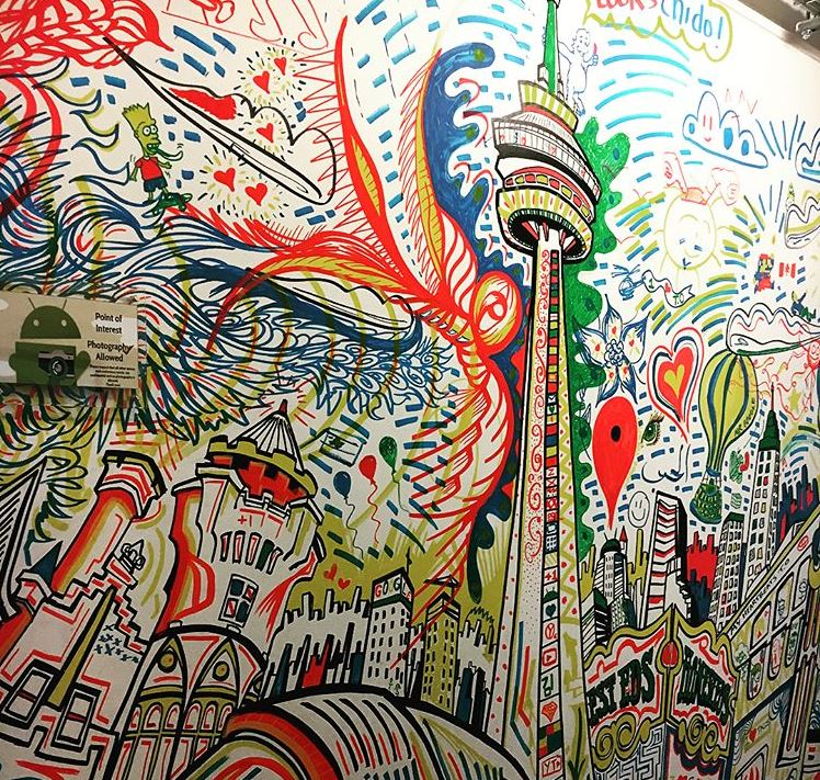 Google graffiti wall