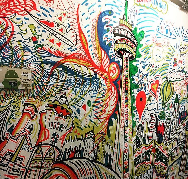 Google graffiti wall