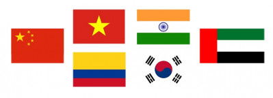 Flags of Countries on the short list