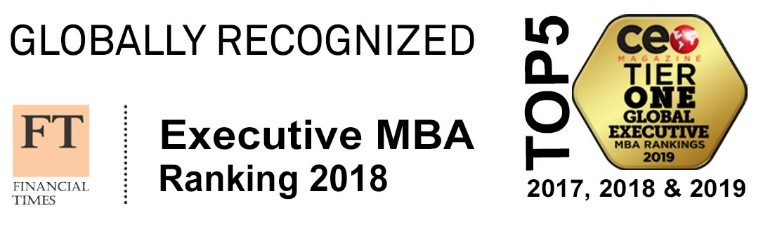 Top Five Global Executive MBA Banner