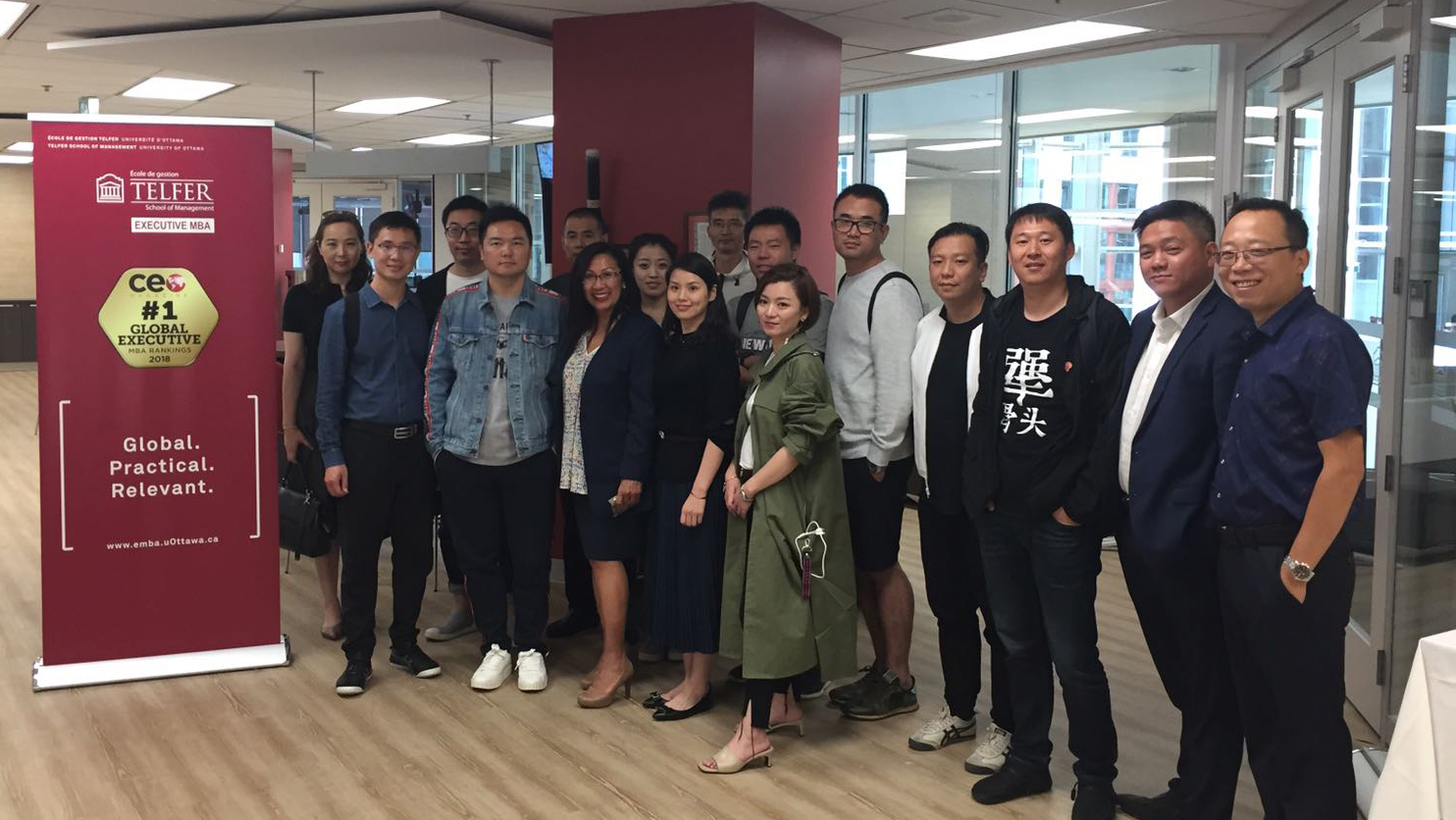 Chinese Food Service Delegation visits Telfer Executive MBA