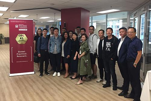 Telfer Executive MBA Welcomes the Chinese Food Service Industry Leader Delegation