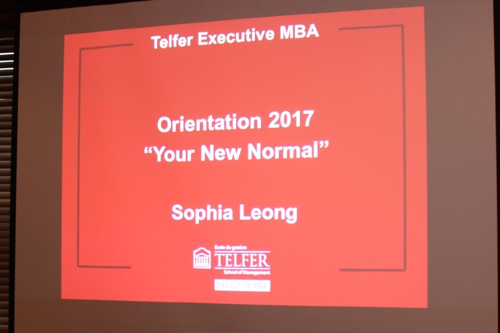 Telfer Executive MBA Class of 2017 DB