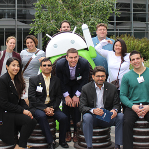 Candidates with Android Statue at Google Square Photo