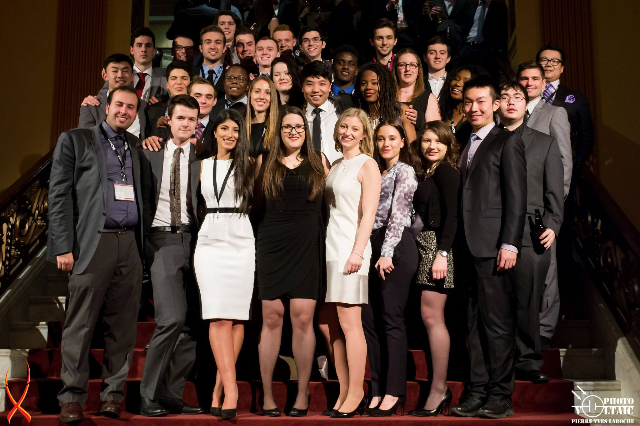 Students at case competition