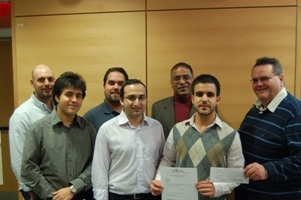 Award of Excellence in Marketing Planning presented to MBA students