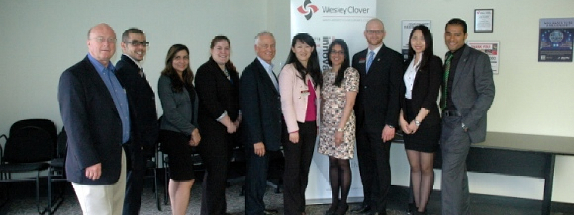 MBA students at Welsey Clover
