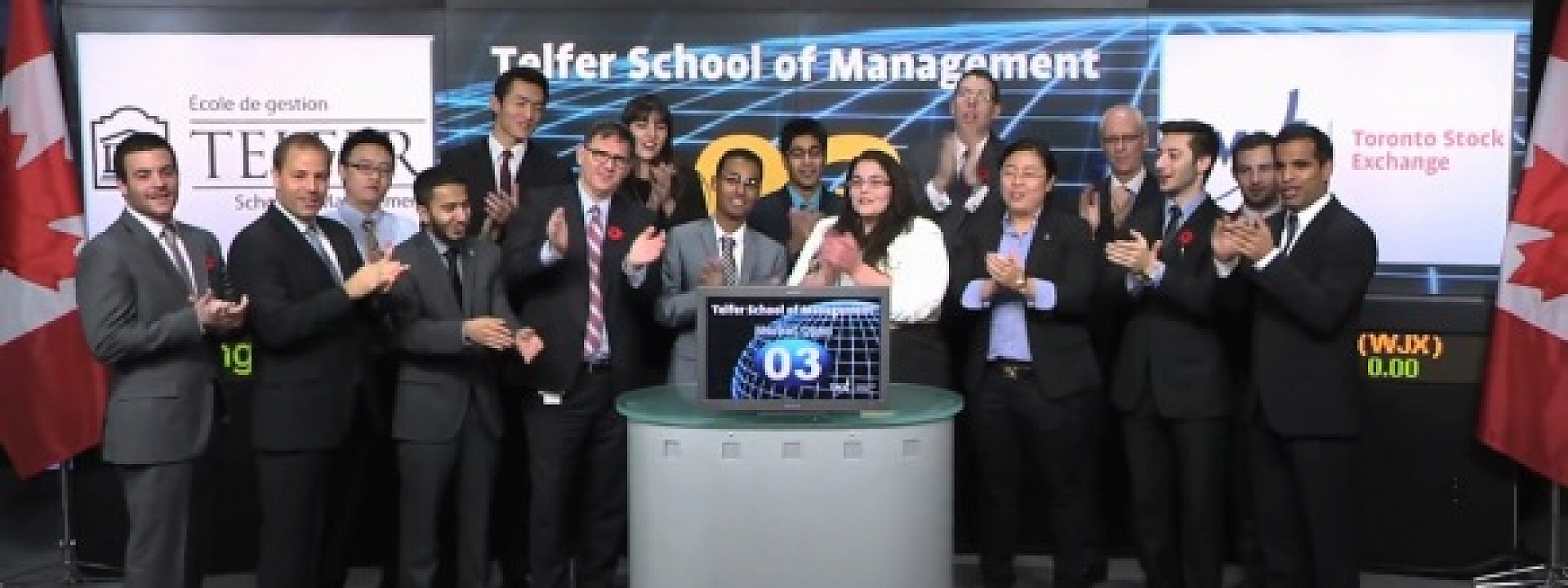Telfer School students open the market in Toronto