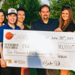 CASCO team with the cheque