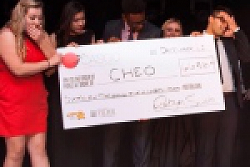 CASCO team presenting the big cheque