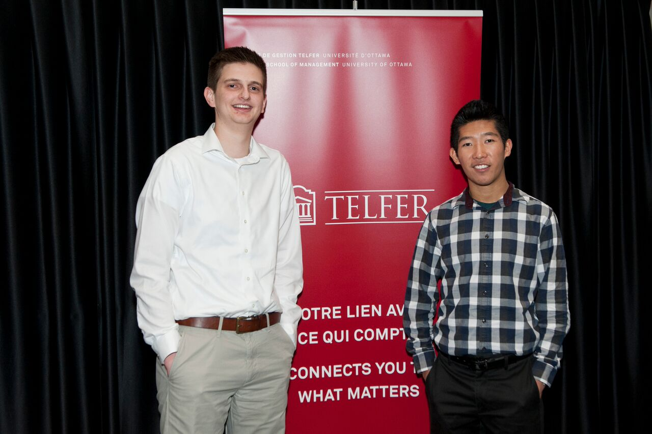 Winners from left to right: Zachary Baldelli and Wei Gao