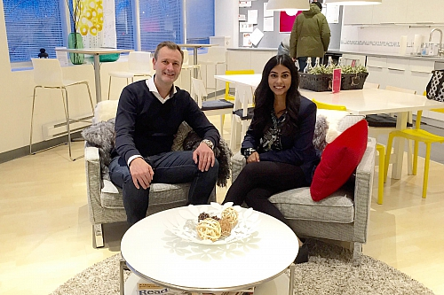 Stefan Sjöstrand, President of IKEA Canada, with 2016 CEO x 1 Day finalist, Maria Poonawala.