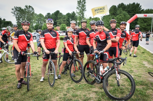 Cyclists at the 6TH Annual National Bank One for Youth Bicycle Tour