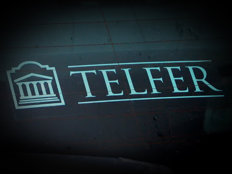 Telfer Window Decal