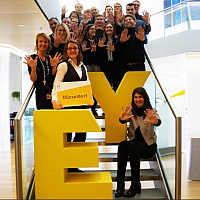 EY germany employees in stairs