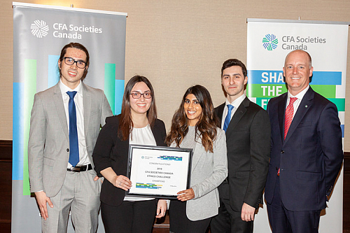 Telfer students named winners of the 2018 CFA Societies Canada Ethics Challenge