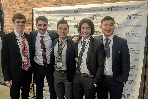 five telfer students at rotman international trade competition