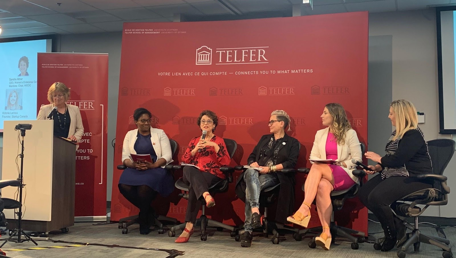 panel of 5 women and one moderator of inclusive innovation changemakers
