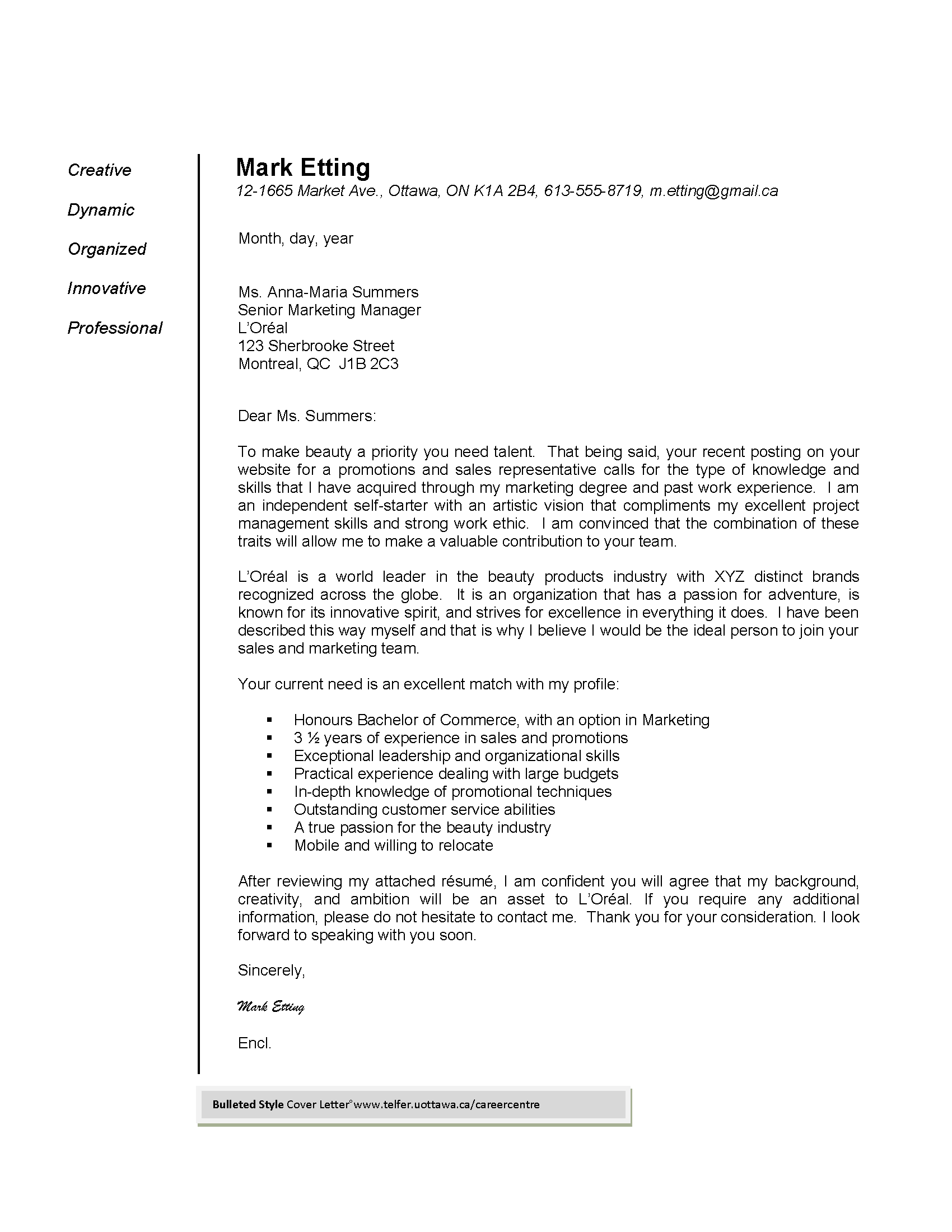 Cover Letter Functional Resume Example