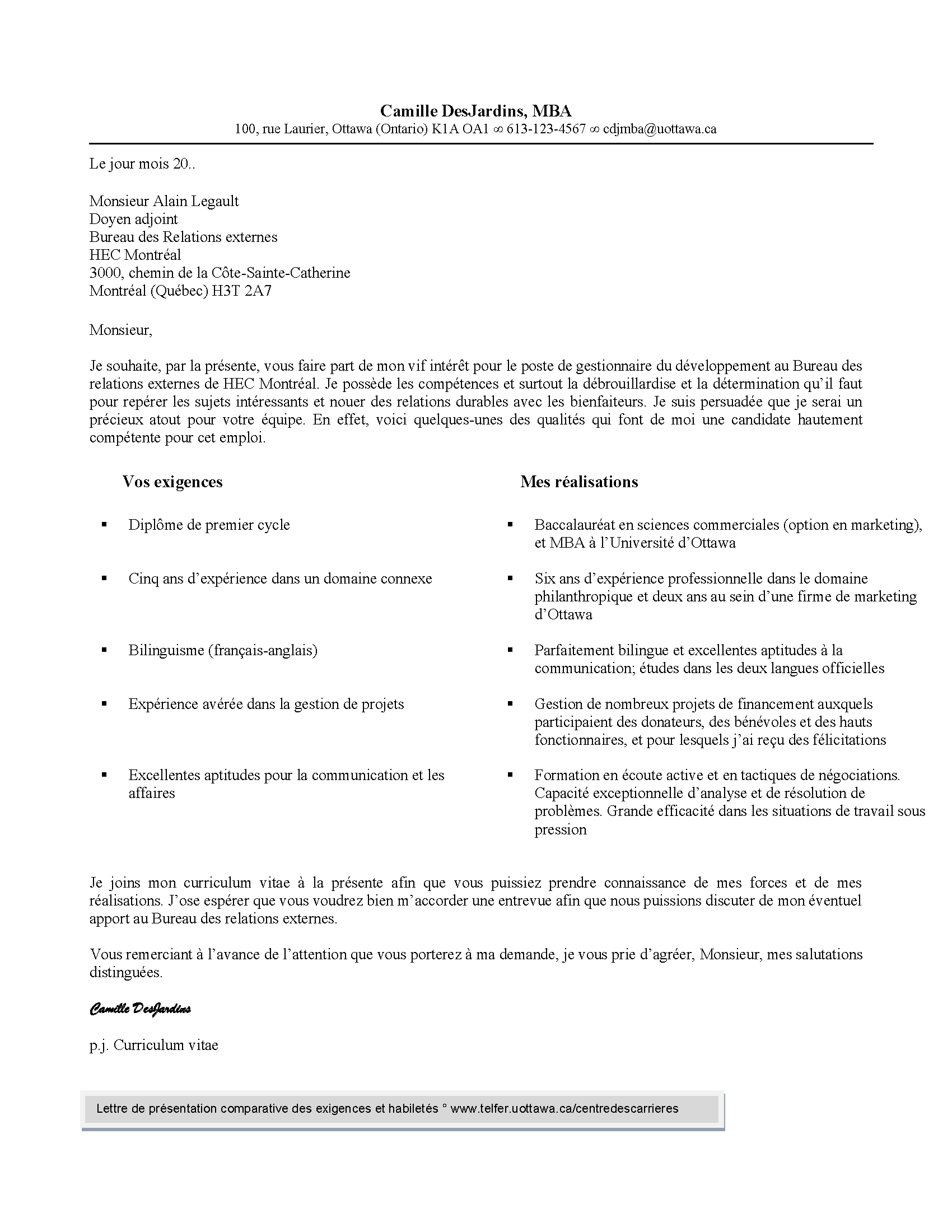lettre de pr u00e9sentation