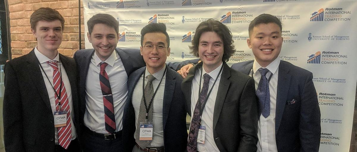 Telfer Students Place Fifth at Rotman Trading Competition