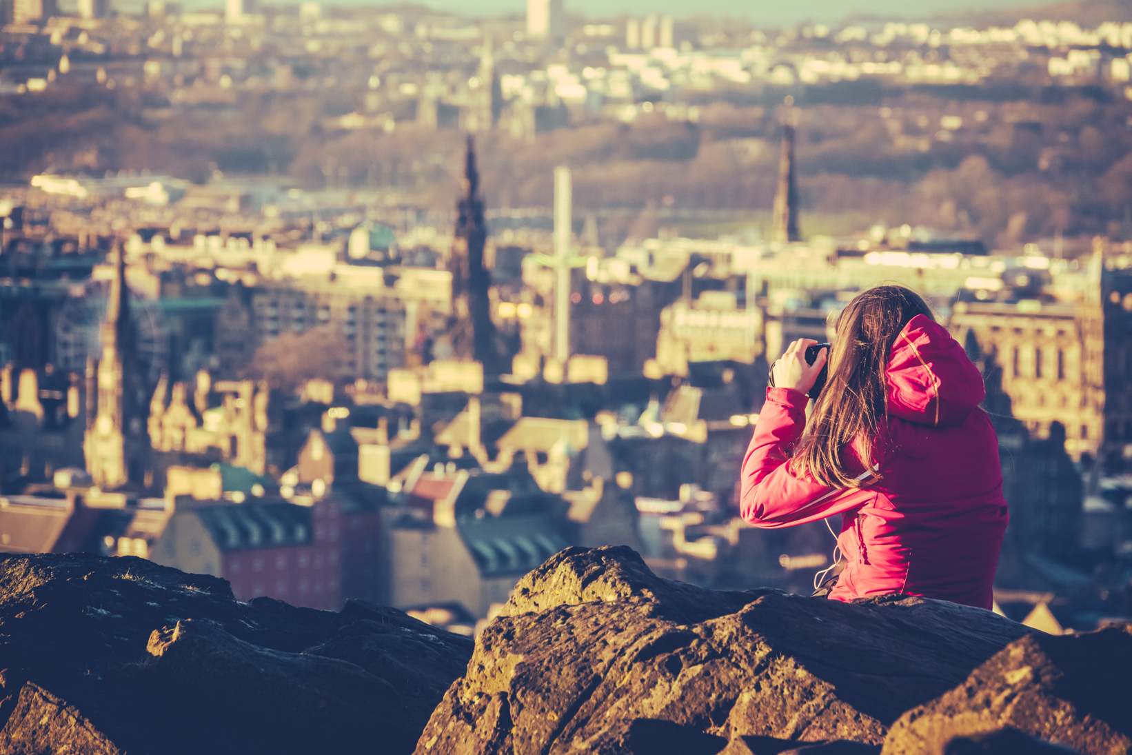 Graduate International Study Trips - Young woman tourist in Scotland