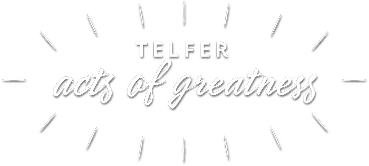 Telfer Acts of Greatness logo