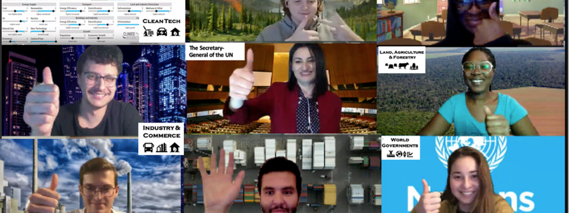 class in web conference screenshot