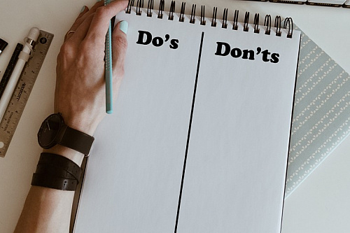 List de Do's et Don'ts