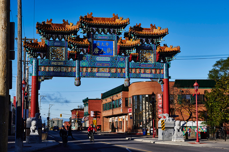 Arch in the Chinatown in Ottawa