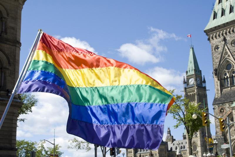Pride flag in the Capital in Ottawa