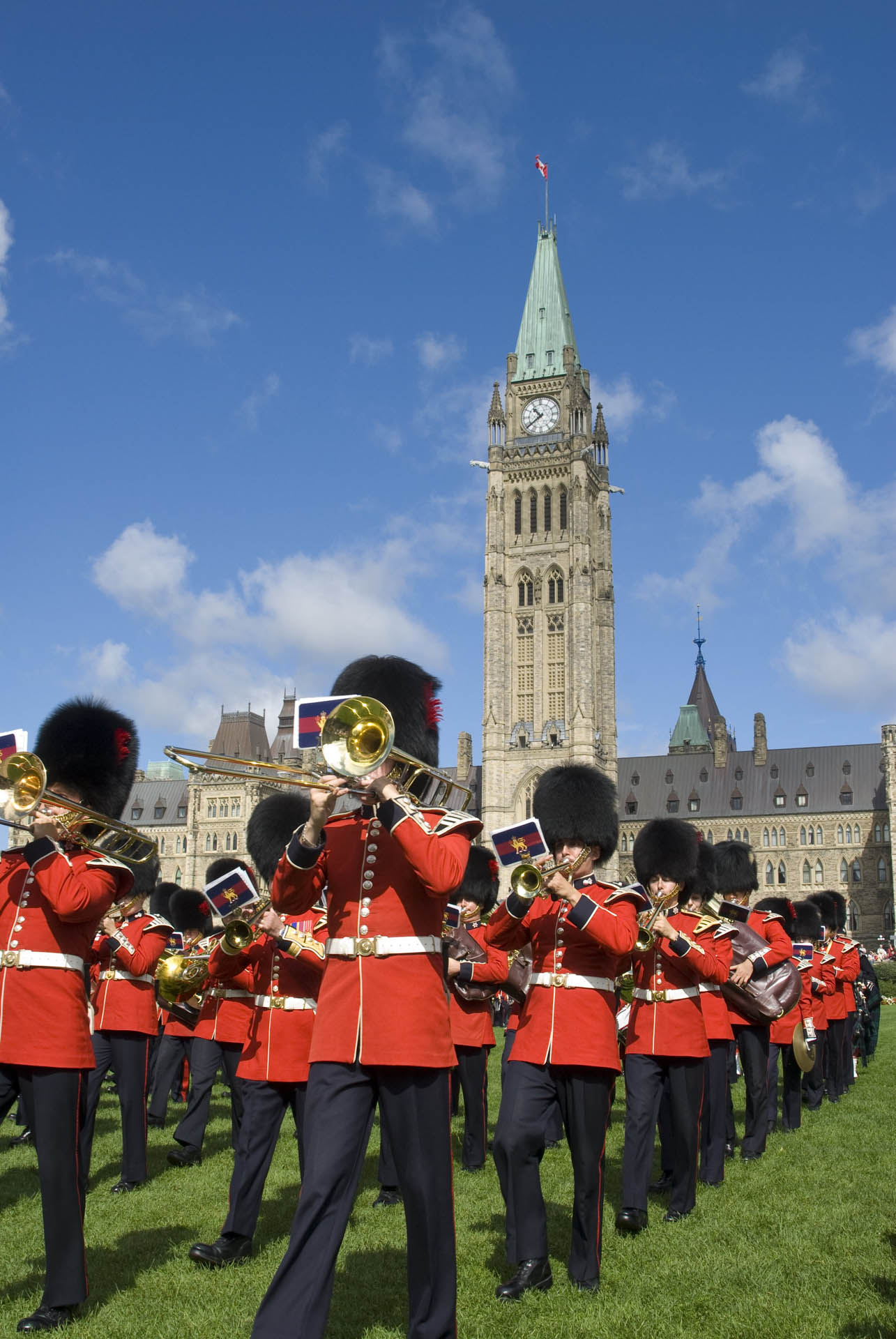 Changing of the Guard on Parliamant Hill in Ottawa