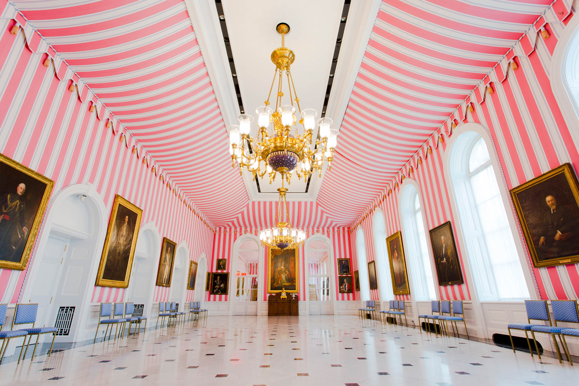 Tent Room at Rideau Hall in Ottawa