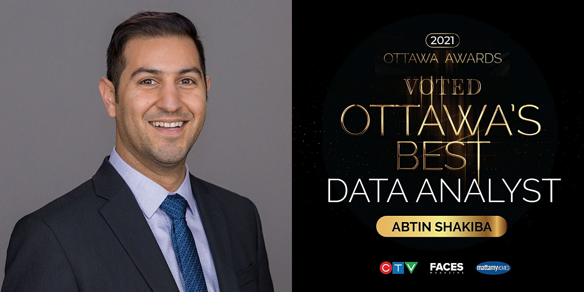 MSc Systems Science Graduate, Abtin Shakiba, is Ottawa's Best Data Analyst