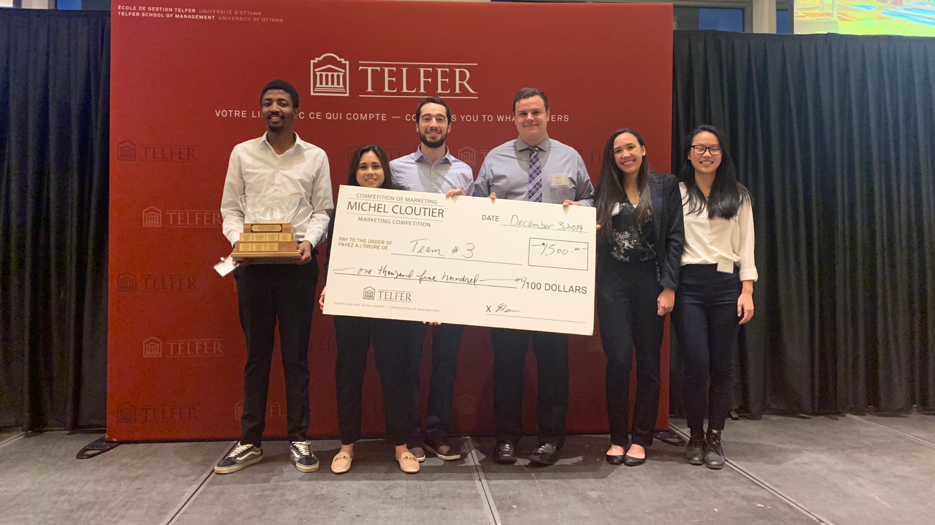 Fall 2019 Michel Cloutier Marketing Competition Winners