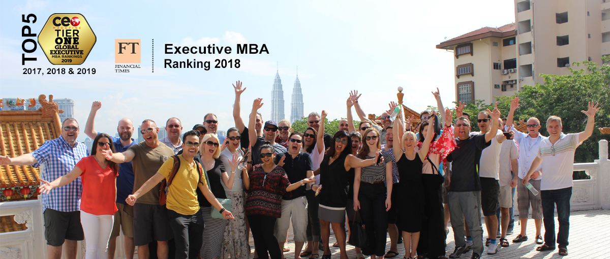 Class of 2017 in Kuala Lumpur with overlay of Financial Times Rankings and CEO Rankings for Telfer Executive MBA